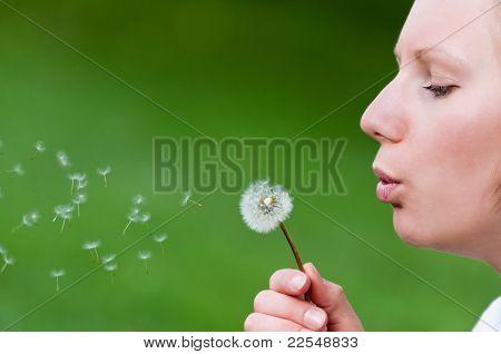 Blow-ball Girl