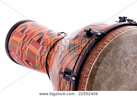 African Latin Djembe Conga Drum Isolated On White
