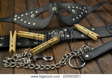 poster of Bdsm Adult Fetish Leather Sex Toys For Domination, Submission And Bondage