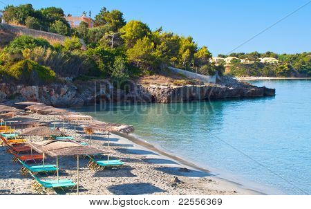 Beach at Argostoli of Kefalonia island in Greece