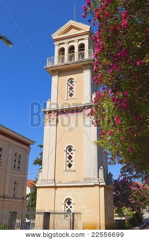 Traditional steeple in Greece