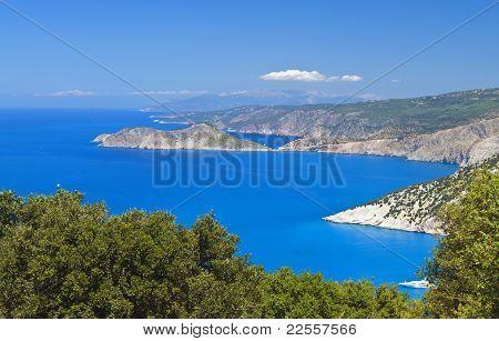 Kefalonia island in Greece