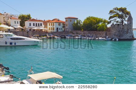 Fishing village of Nafpaktos in Greece
