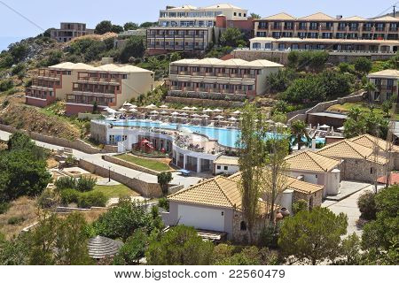 Luxurious hotel at the island of Kefalonia
