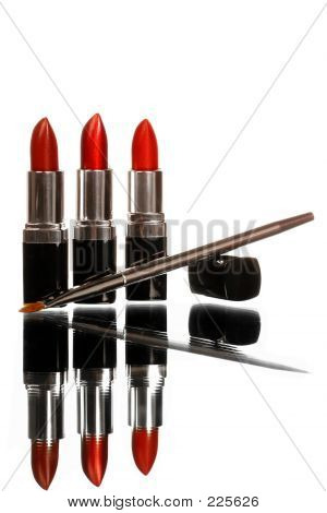 Three Colorful Lipsticks
