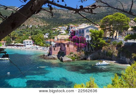 Traditional fishing village at Kefalonia