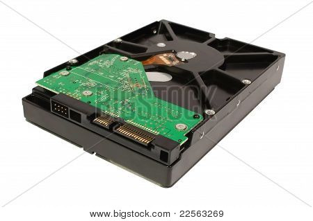 Sata 3.5 Inch Hard Disk Drive Isolated On A White
