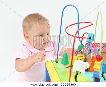 Cute Baby Girl Playing