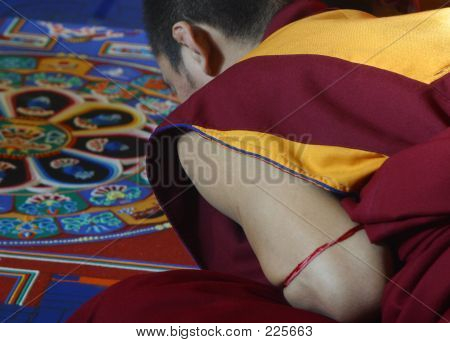 Kneeling Monk