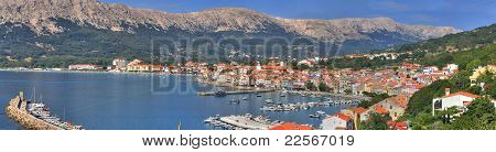Mediterranean Town Of Baska Panorama