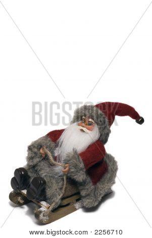 Weihnachtsmann auf Schlitten - Portrait