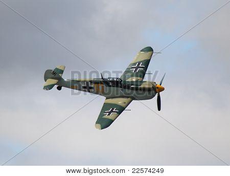 Messerschmitt in flight