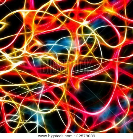 Colorful abstract light (fractal background)