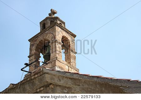 Islander Greek Belfry At Skopelos Island