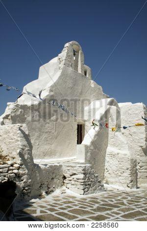 Greek Chruch - Mykonos, Greece
