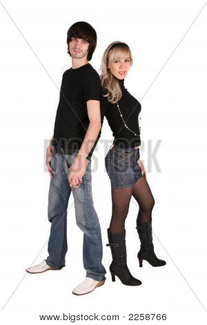 Young Couple. Black Jeans
