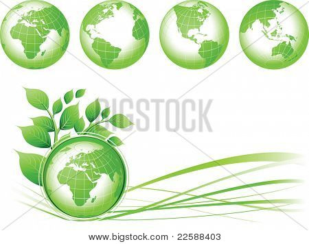 Green Earth background, illustration. Base map generated using map data from the public domain. (www.diva-gis.org)