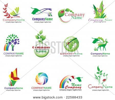 Set of ecology icons, vector illustration