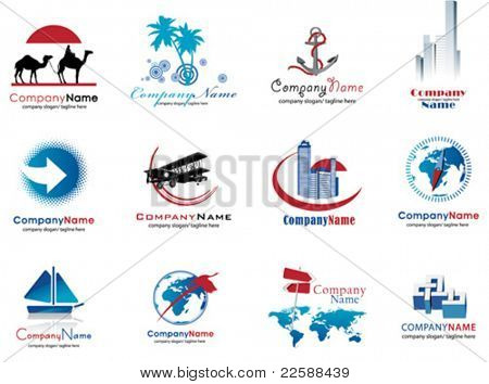Set of travel icons, vector illustration