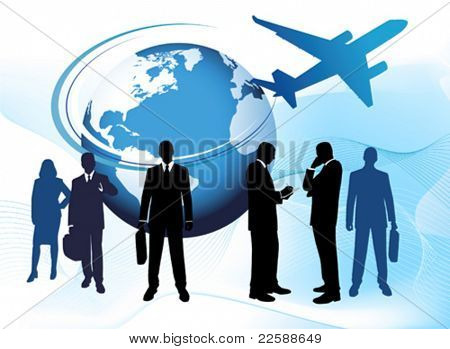 Global business, vector images scale to any size