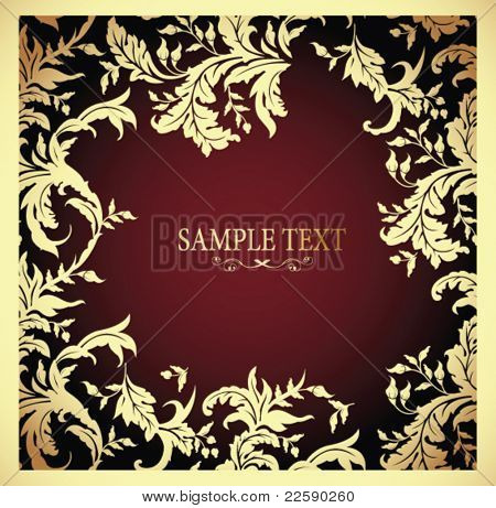 Abstract design background. All elements and textures are individual objects. Vector illustration scale to any size.