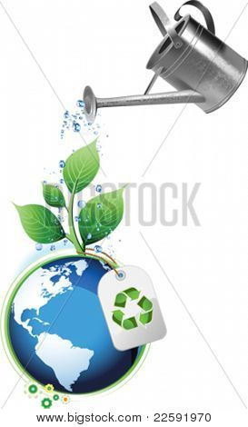 Earth Day. All elements and textures are individual objects. Vector illustration scale to any size.
