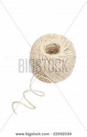 clew of linen twine
