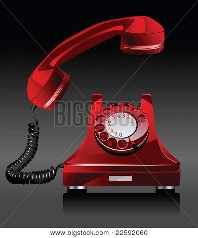 Old phone.  Raster version of vector illustration.