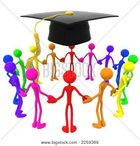 Full Spectrum Unity Circle Graduation Concept