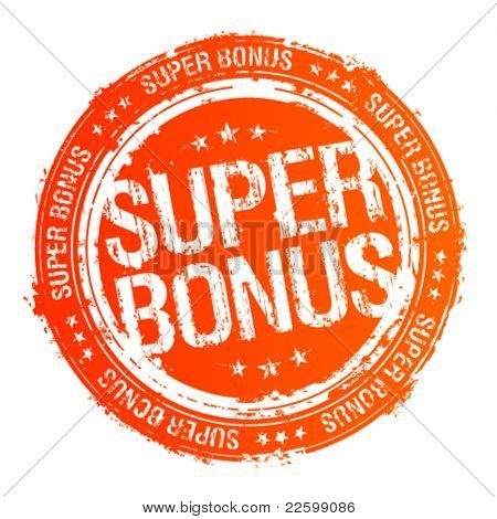 Super bonus vector Rubberstempel.
