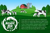 Vector Milk Illustration poster