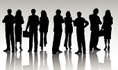 stock photo of person silhouette  - Silhouettes of various different business people  - JPG