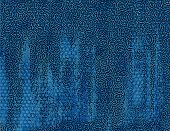 stock photo of stippling  - Background with abstract pattern and brushstrokes in blue color - JPG