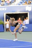 TORONTO: AUGUST 11. Bondaremko plays against Williams in the Rogers Cup 2011 on August 11, 2011 in T