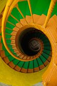 Spiral Staircase In Old Lighthouse