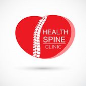 Spine Chiropractic Logo poster