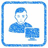 Computer Administrator Rubber Seal Stamp Watermark. Icon Vector Symbol With Grunge Design And Dirty  poster