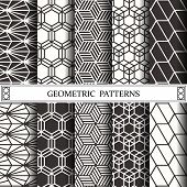 Hexagon Geometric Vector Pattern,pattern Fills, Web Page, Background, Surface And Textures poster