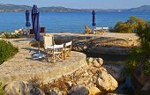Beach bar at Kefalonia island in Greece