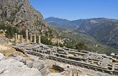 foto of oracle  - Temple of Apollo at Delphi oracle archaeological site in Greece - JPG
