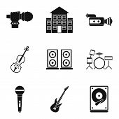 Stage Performance Icons Set. Isometric Set Of 9 Stage Performance Vector Icons For Web Isolated On W poster