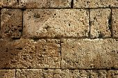 Ancient Weathered Fortress Wall Detail Background Texture poster
