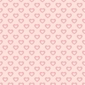 Valentines Day Background. Vector Seamless Pattern With Pink Hollow Hearts On Pastel Backdrop. Abstr poster