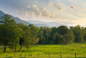stock photo of smoky mountain  - Cades Cove in The Great Smoky Mountains National Park - JPG