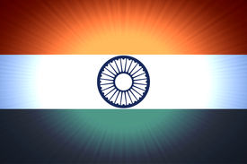 pic of ashok  - tri colored indian flag with ashok chakra - JPG