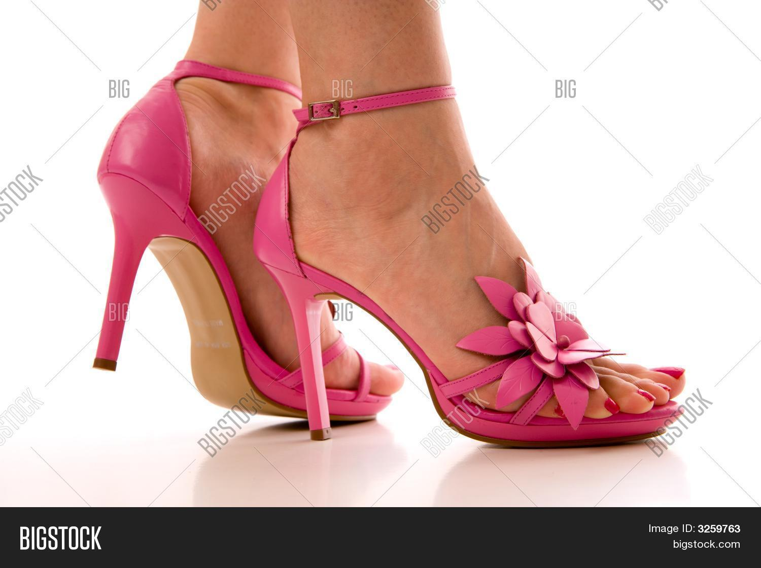 A Woman In Pink High Heel Shoes Stock Photo &amp Stock Images | Bigstock