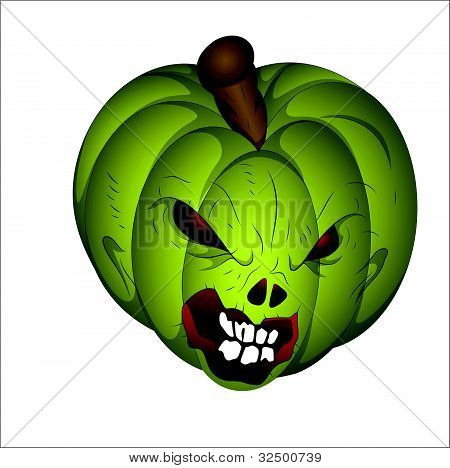 Scary Halloween Pumpkin Vector