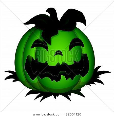 Illustration of Spooky Halloween Pumpkin