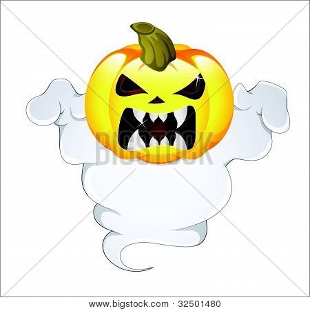 Ghost Pumpkin Vector