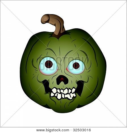 Scary Cartoon Halloween Pumpkin